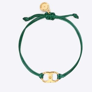 TORY BURCH Embrace Ambition bracelet green gold